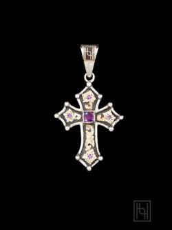 RimRock Chroma Cross Pendant w/ Amethyst & Purple