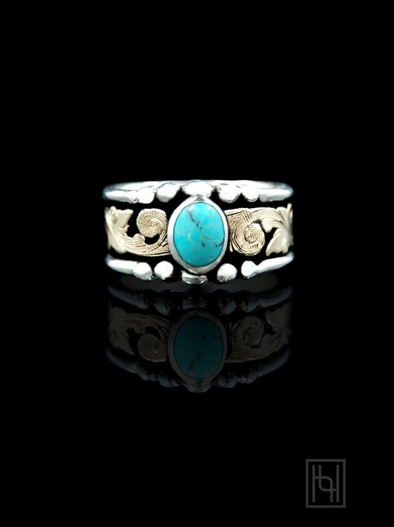 Western Turquoise Ring