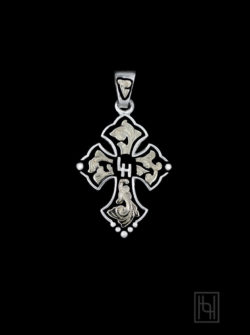 Custom Budded Cross Pendant