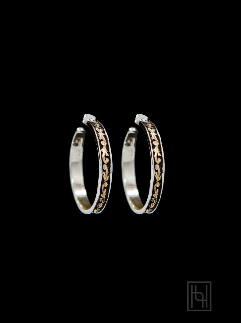 Engraved Hoop Earrings
