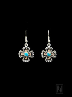 RimRock Chopper Cross Earrings w/ Hooks