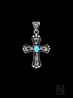 RimRock Blue Turquoise Roper Cross