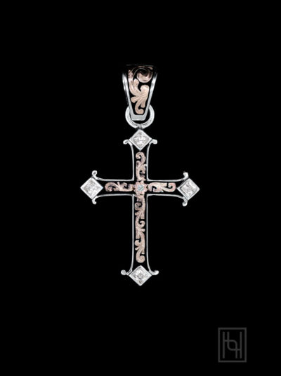 Adorned Cross Pendant w/ Crystal Accents
