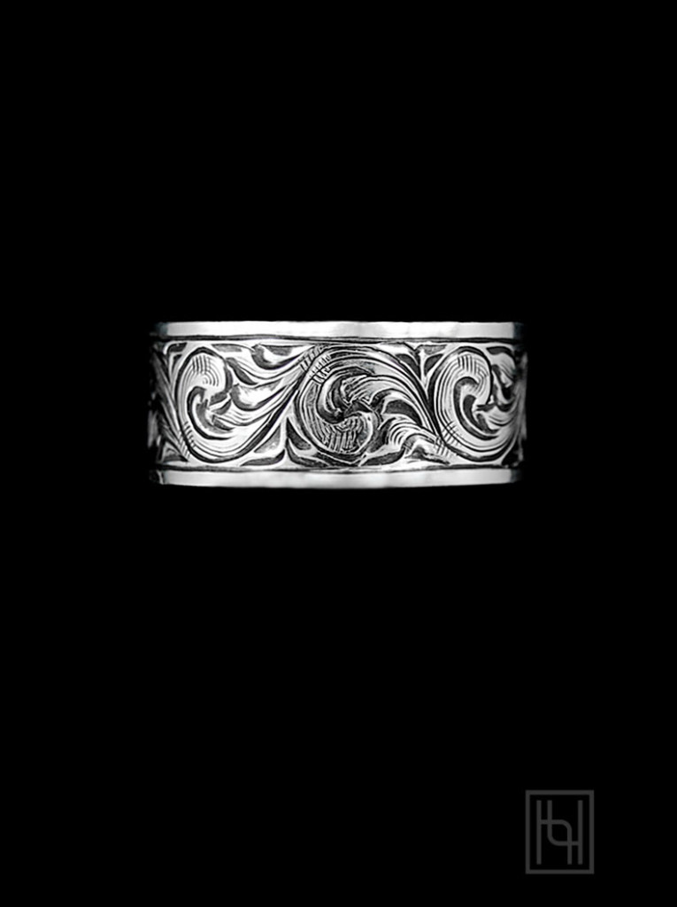 Vintage Engraved Silver Ring