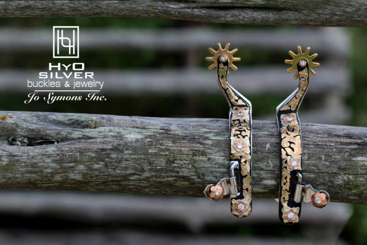 Decorated Hyo Silver Spurs