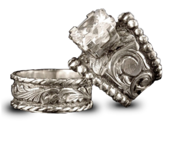 Hyo Silver Custom Western Wedding Rings