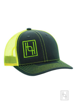 Hyo Silver Trucker Cap in Neon Yellow