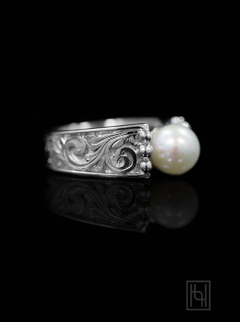 Cathedral Pearl & Silver Ring
